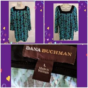 DANA BUCHMAN ABSTRACT PRINT TUNIC